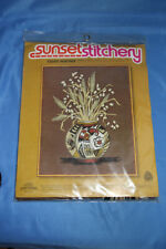 Sunset Needle Point Kit Indian Heritage Bouquet Fits Frame 14 x 18