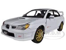 SUBARU IMPREZA WRX STi WHITE 1/24 DIECAST CAR MODEL BY MOTORMAX 73330