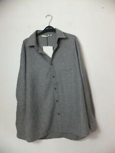 New Women's Seasalt Grey Oversize Wool Blend Shirt Size UK 10
