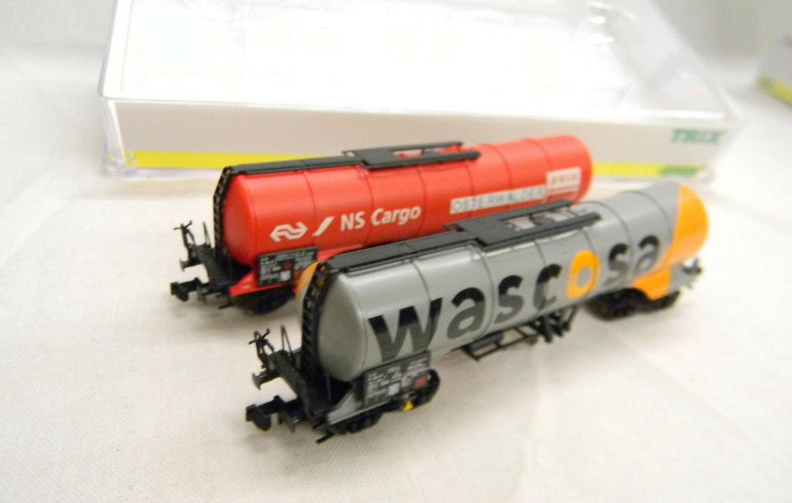 15129 MINITRIX N WAGEN-SET KNICKKESSEL SBB 2-tlg OVP 1 160 Eisenbahn train neu