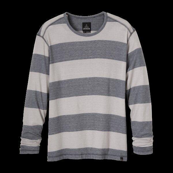 PrAna Basement Long Sleeve Crew, Light Long Sleeve Shirt, Coal