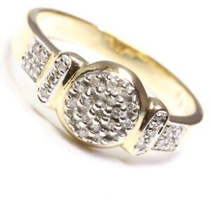 14kt-585-antiker-Damen-Diamantring-Diamant-Ring-Gold-Diamanten-Damenring