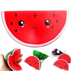 Squishy-Jumbo-Smiley-Wassermelone-Obst-Duft-Brot-Squeeze-Spielzeug-Dekor-GUT