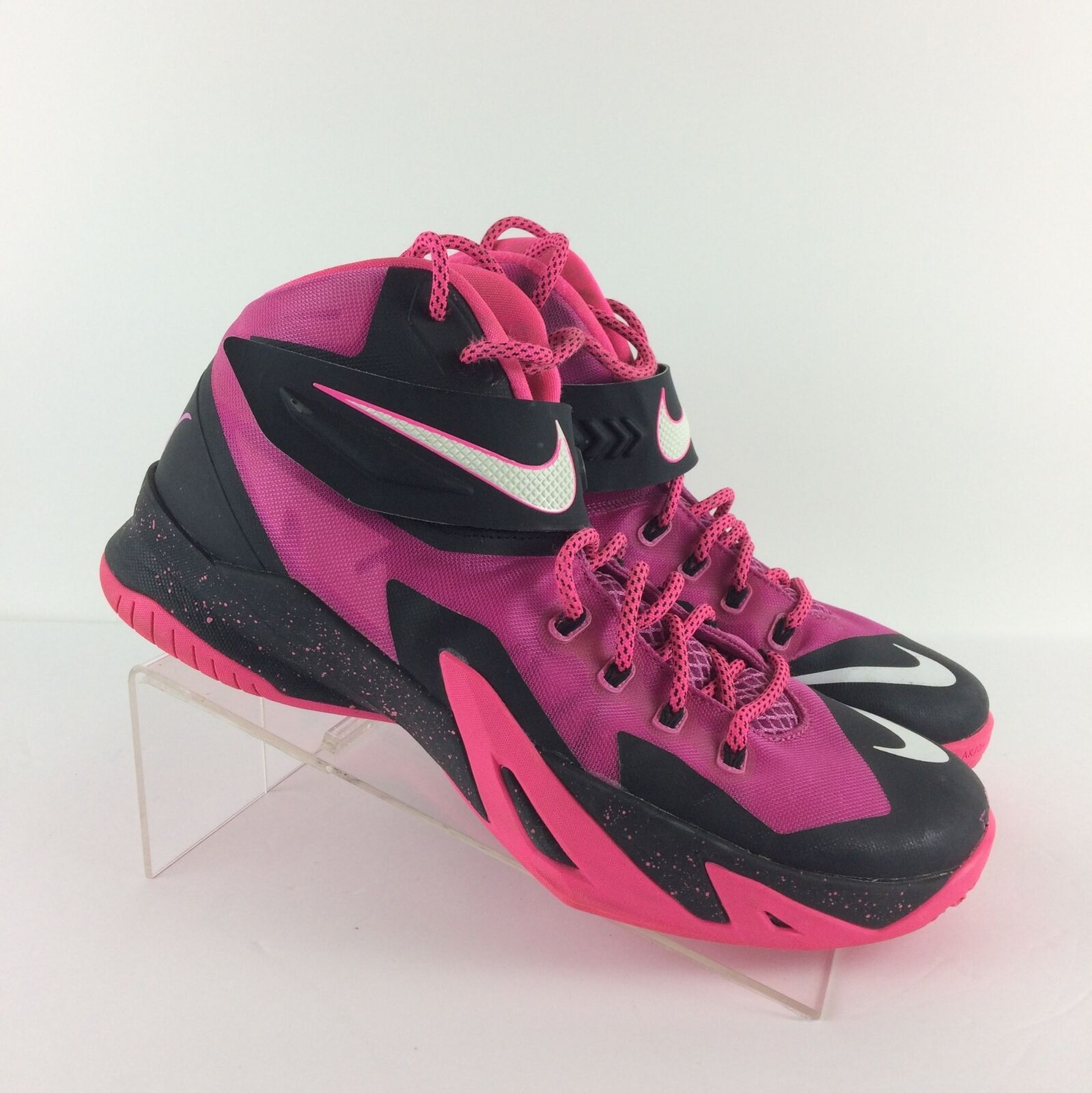 Nike Mens Lebron Soldier VIII 8 shoes Breast Cancer, Pink 653641-610, Size 10.5
