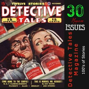 Detective-Tales-Magazines-Crime-Murder-amp-Mystery-stories-pulp-fiction