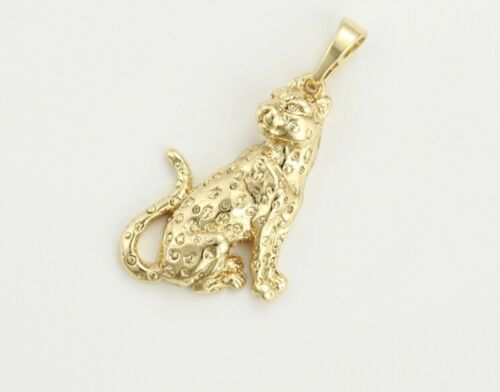 14ct Oro Lleno Panther Diseño Colgante