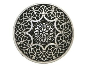 12 Safi 9/16 inch ( 15 mm ) Metal Buttons Antique Silver Color