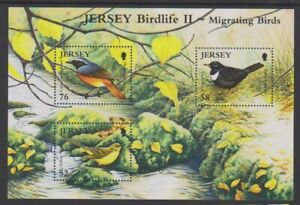 Jersey-2008-Birdlife-Migrating-Oiseaux-Feuille-MNH-Sg-MS1407