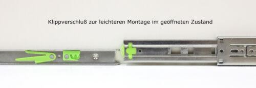 Télescope rails tiroirs extraits vollauszüge fermeture amortie 40 kg 45 mm 350 Mm