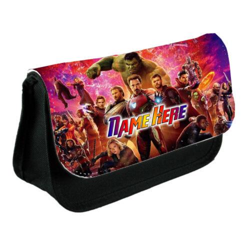Black Pencil Case Or Make-Up Bag Gift Marvel Avengers Infinity Personalsied