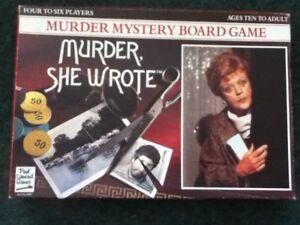 ** Murder She Wrote Meurtre Mystère Board Game - 1984 Rare **-afficher Le Titre D'origine
