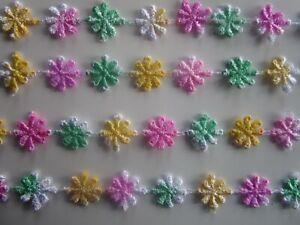 6 METER Borte GPO Blumen Spitze Nichtelastisch Weiß 1,3cm top mode N  GPO 182