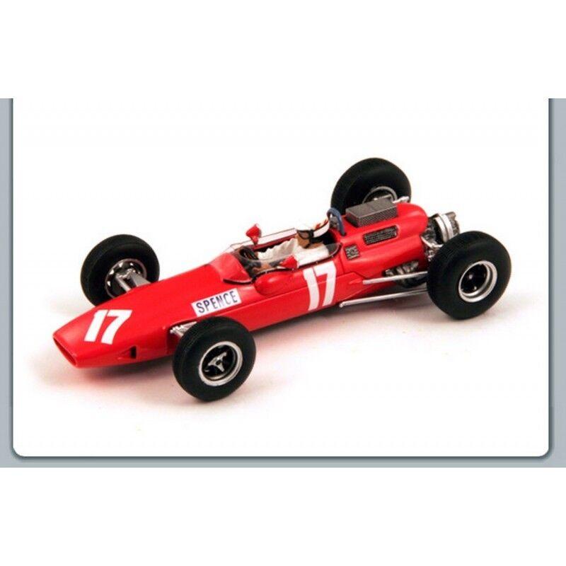 SPARK MODELL S1853 LOTUS 25 BRM M. SPENCE 1966 N.17 IM RUHESTAND BRITISCH GP 1