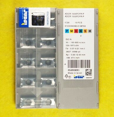 APKT 100310R IC28 ISCAR *** 10 INSERTS *** 1 FACTORY PACK