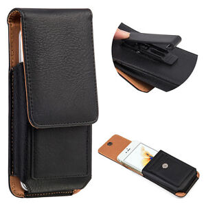 best sneakers 8b3e4 c3390 Details about Leather Case Belt Clip Pouch Cover Holster for Apple iPhone 8  Plus 7 Plus 6 Plus
