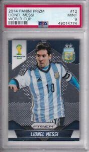 2014 Panini Prizm World Cup #12 Lionel Messi - ARGENTINA - PSA 9 MINT