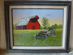 H. Hargrove Serigraph Painting SEE ROCK CITY Barn Painted ...