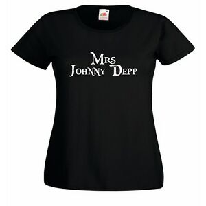 Mrs-Johnny-Depp-wife-Ladies-Fitted-Black-T-Shirt