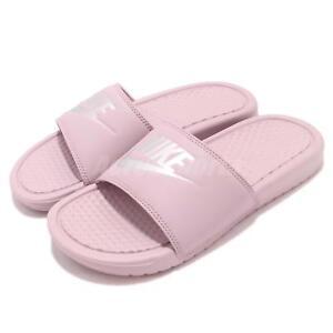5a03ed95d471 Nike Wmns Benassi JDI Particle Rose Silver Women Sports Sandal ...