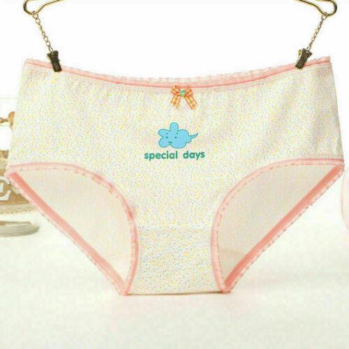 Women/'s Underwear Knickers Cotton Briefs Ice Cream Cat Print Girl Cute Panties