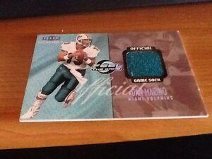 1999-Fleer-Mystique-Feel-The-Game-Dan-Marino-Game-Used-Sock-206-220