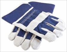 Pair Of Kids Leather Work Garden Gardening Gloves