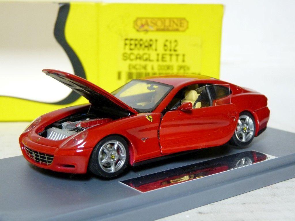 Gasolina BBR gasopen 001A 1 43 Ferrari 612 Scaglietti Coche Modelo de Resina Hecho a Mano