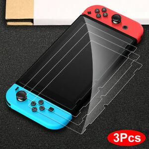 For-Nintendo-Switch-Premium-Tempered-Glass-Screen-Protector-HD-Clear-3-Pack