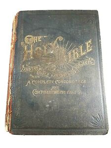 Vtg 1904 Wilmore's New Analytical Reference Bible w/Complete Concordance ANTIQUE