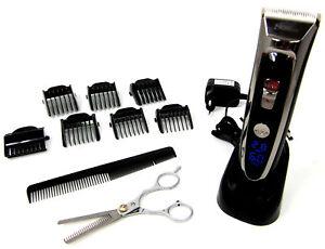 Haarschneidemaschine-Keramik-Schermesser-Akku-Netz-Effilier-Schere-Bartschneider