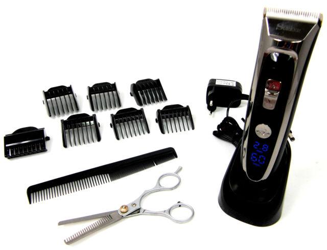 Haarschneidemaschine Keramik Schermesser Akku/Netz Effilier Schere Bartschneider