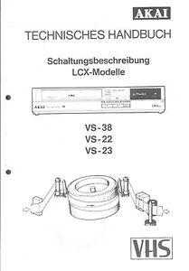 Mit Schaltplänen Einfach Und Leicht Zu Handhaben Diplomatisch Akai Original Service Manual Für Vs-38 22 23 Kompl Tv, Video & Audio