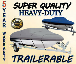 BLUE BOAT COVER FITS TRACKER PRO DEEP V-17 1993 1994 1995