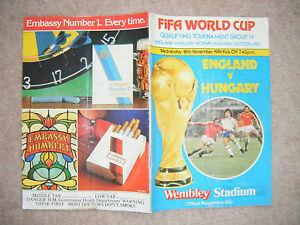 England V Hungary Program played at Wembley 18 Nov 1981 WCQ - Ringwood, Hampshire, United Kingdom - England V Hungary Program played at Wembley 18 Nov 1981 WCQ - Ringwood, Hampshire, United Kingdom