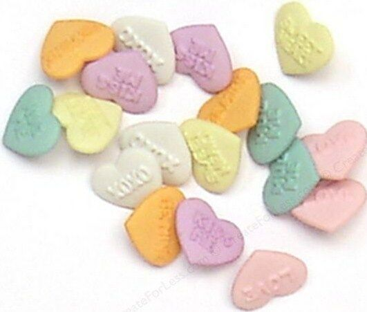 Jesse James Buttons ~ Dress It Up ~ CANDY KISSES - Valentine Heart Candy - Sew