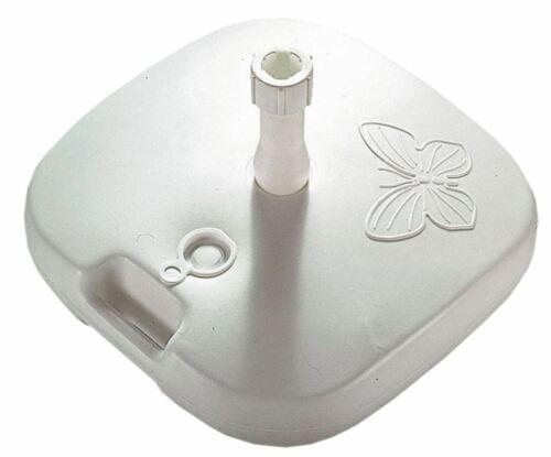 Sonnenschirmständer Papillon weiß 20ltr.füllbar Schirmständer bis 26kg 950355077
