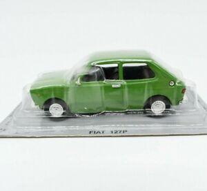Coche-modelo-Fiat-127-escala-1-43-DIECAST-IXO-modellcar-Estatico-Verde-Clasico