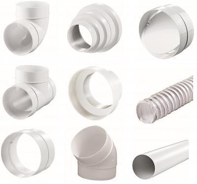 Stetig Rundrohrsystem- Pcv Lüftungsrohre T-stück Bindeglieder Reduktion Kniestück Bogen Fein Verarbeitet