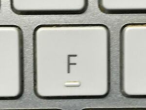 f replacement key a1243 apple wired keyboard white w hinge ebay. Black Bedroom Furniture Sets. Home Design Ideas