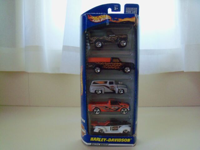 HOT WHEELS - FORD / HARLEY-DAVIDSON - 5 VEHICLE GIFT PACK - DIECAST
