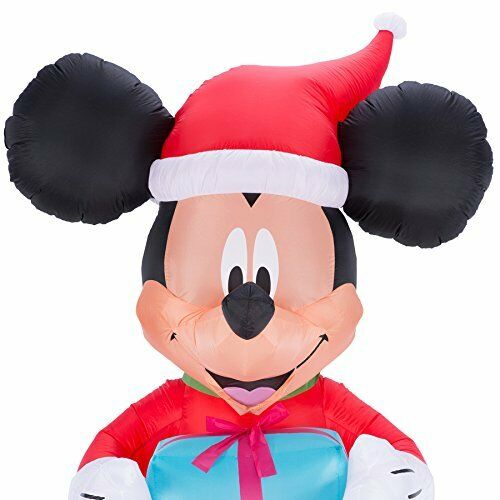 9 ft Mickey Mouse with Gift Airblown Inflatable Christmas Decoration Disney