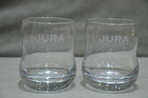 Pair Of 2 Jura Whisky Glass Tumbler Glass Brand New In Box Christmas New RARE