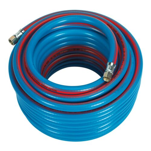 Sealey Air Compressor Hose/Line 20mtr x 8mm, 1/4BSP Extra Heavy-Duty