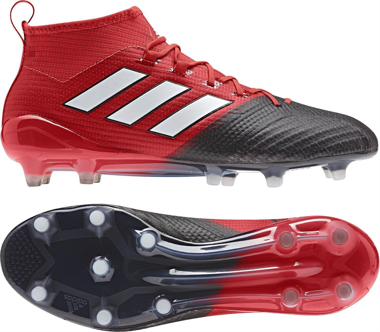 Adidas ACE 17.1 Primeknit FG Botines de fútbol para hombres talla EE. UU. 11.5 Negro Rojo BB4316