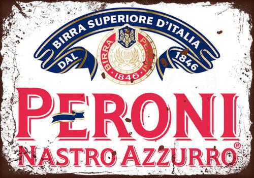 Métal Signes Plaques Vintage Style Rétro Gin Bar Peroni MANCAVE bière Wall Decor