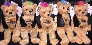 5-Hard-ROCK-Cafe-GUAM-USA-2009-PUNK-ROCK-Teddy-Beara-w-Mohawk-Plush-Bear-ARCHIVE