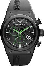 Emporio Armani AR6106 Stylesport Black Rubber Men's Chronograph Watch New in Box
