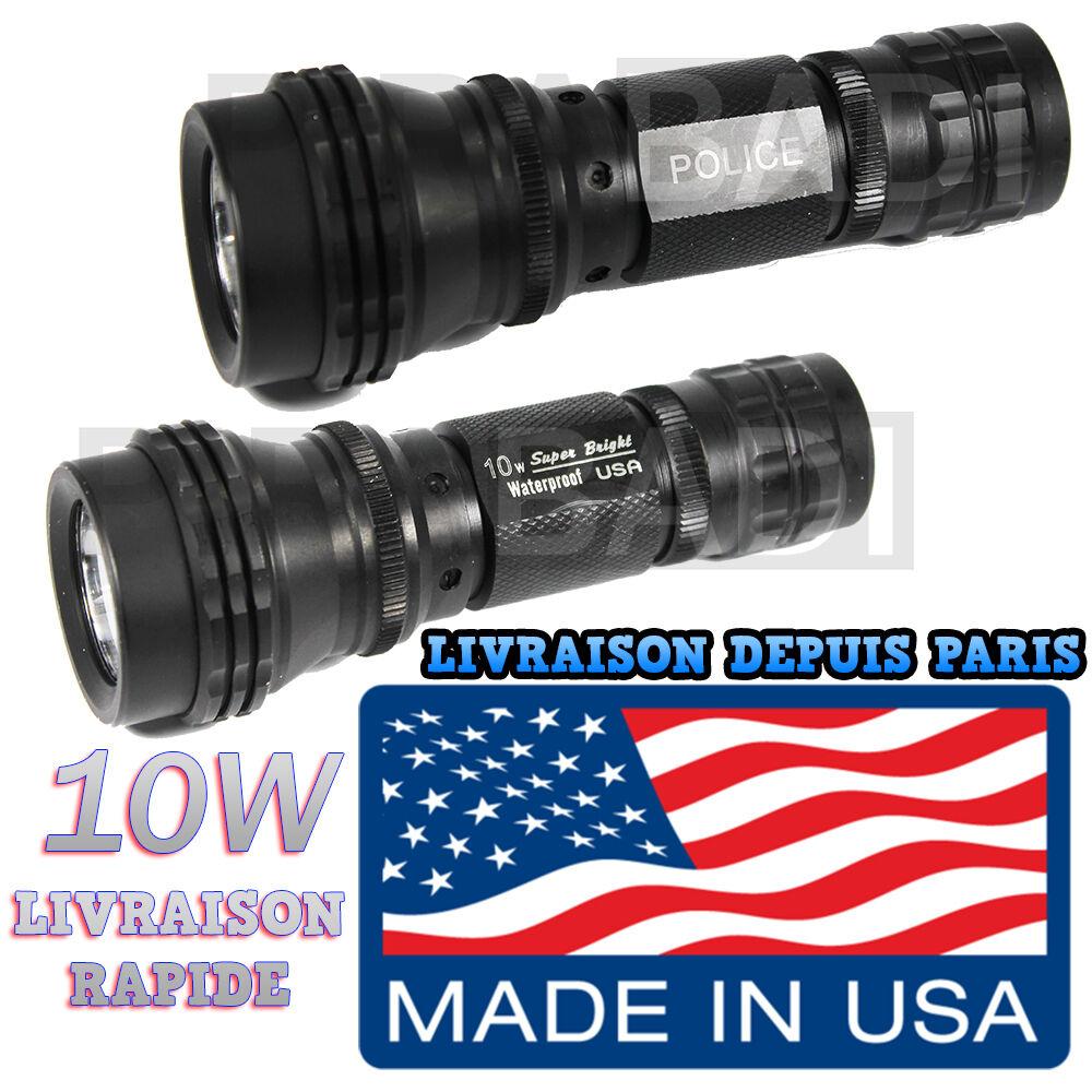 SWAT SWAT SWAT POLICE 500M LAMPE TORCHE 3500 LUMEN LED 10W FLASHLIGHT • MADE IN U.S.A • 69de59