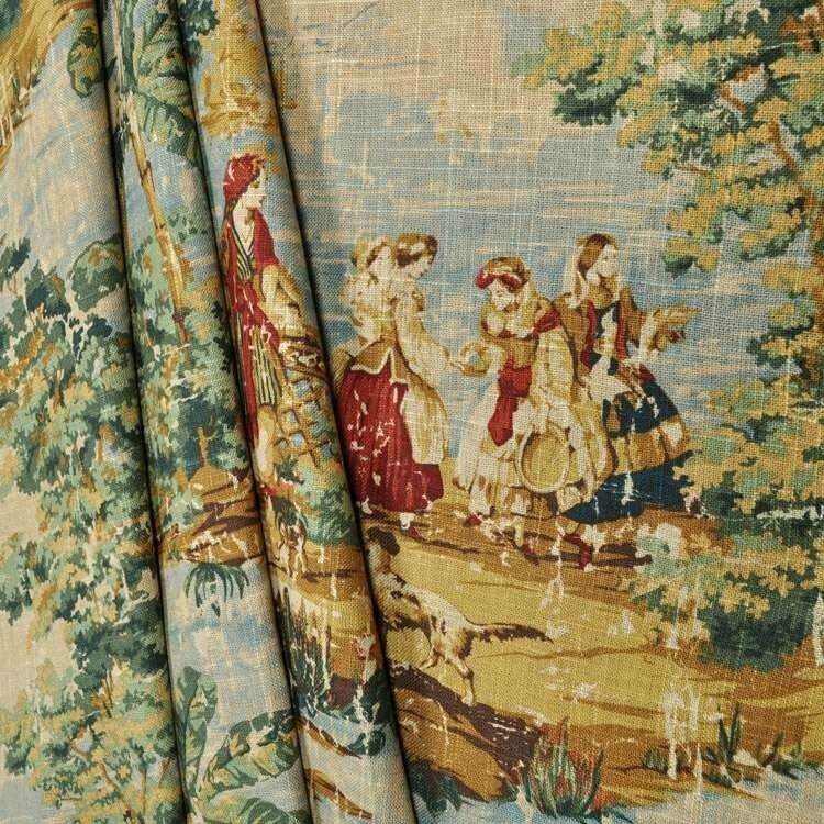 Covington Bosporus Antique rot Scalloped Window Curtain Valance French French French Country T dee653