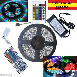 NAVIDAD-Tiras-Led-5050-3528-300Led-RGB-Blanco-Colores-Controlador-Transformador